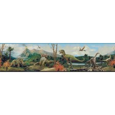 Bright Blue/White/Bright Green Animals Wallcovering by York