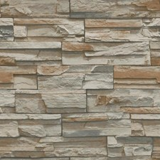 Brown/Grey/Taupe Bricks Wallcovering by York