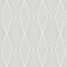 Light Grey/White/Silver Geometrics Wallcovering by York