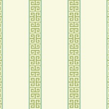 White/Green/Turquoise Stripes Wallcovering by York