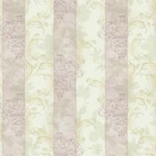 Cream/Pale Lavender/Grey Stripes Wallcovering by York