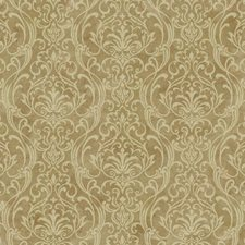 Bright Gold/Cream Damask Wallcovering by York