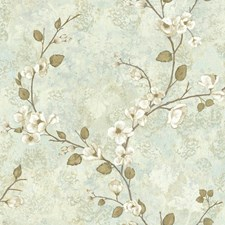 Cream/Pale Taupe/Grey Floral Wallcovering by York