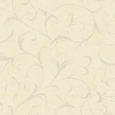 Cream/Beige/Aqua Scroll Wallcovering by York