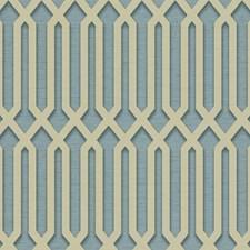 Grey/Blue Geometrics Wallcovering by York