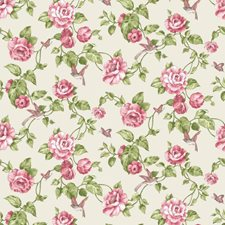 Creamy Pearl/Watermelon/Pale Pink Floral Medium Wallcovering by York