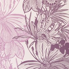 Damson Botanical Wallcovering by Clarke & Clarke