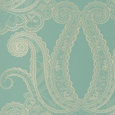 Aqua Large Scale Wallcovering by Clarke & Clarke