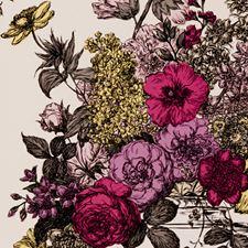 Sorbet Floral Stylized Wallcovering by Clarke & Clarke