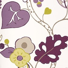 Heather Floral Large Wallcovering by Clarke & Clarke