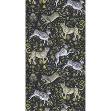 Charcoal Animal Wallcovering by Clarke & Clarke