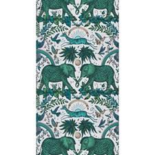 Green Animal Wallcovering by Clarke & Clarke