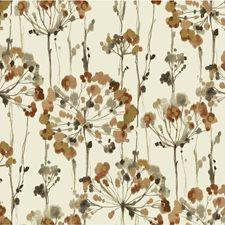 Rust/Gold/Taupe Botanical Wallcovering by Kravet Wallpaper
