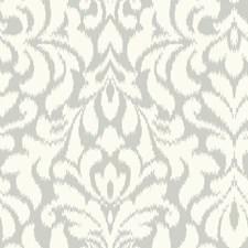 Light Grey/Ivory Damask Wallcovering by Kravet Wallpaper