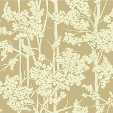 Gold/Ivory Botanical Wallcovering by Kravet Wallpaper