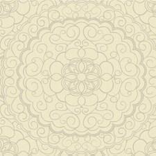 Gold/Beige/Silver Medallion Wallcovering by Kravet Wallpaper