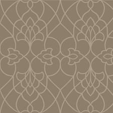 Beige/Ivory/Gold Lattice Wallcovering by Kravet Wallpaper