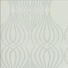 White/Light Blue/Silver Geometric Wallcovering by Kravet Wallpaper