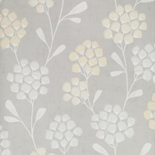 Grey/Yellow/Ivory Botanical Wallcovering by Kravet Wallpaper