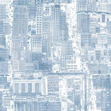 Blueish Modern Wallcovering by Kravet Wallpaper