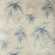 Ivory/Blue Botanical Wallcovering by Kravet Wallpaper