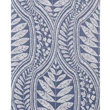 Indigo/White Botanical Wallcovering by Kravet Wallpaper