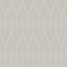 Grey/Ivory Modern Wallcovering by Kravet Wallpaper