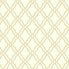 Ecru/Buff Geometrics Wallcovering by York
