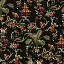 Black/Gray/Crimson Animals Wallcovering by York