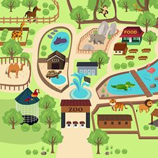 WALS0277 Zoo Time Wall Mural by Brewster