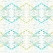 Pearly White/Turquoise/Spring Green Retro Wallcovering by York