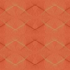International Orange/Bright Gold/Crimson Dots Wallcovering by York