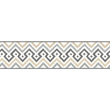 White/Tan/Dark Grey Geometrics Wallcovering by York