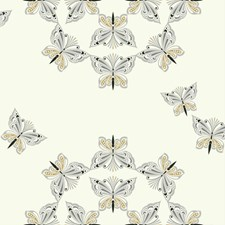 Off White/Metallic Silver/Gold Glitter Animals Wallcovering by York