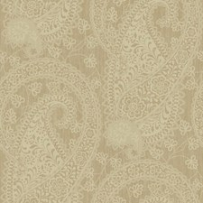 Light Matte Taupe On Metallic Taupe Paisley Wallcovering by York