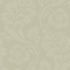 Matte Grey On Grey Satin Floral Wallcovering by York