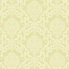 Metallic Gold/Cream/White Damask Wallcovering by York