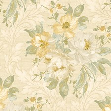 White Yellow Wallcovering by Scalamandre Wallpaper