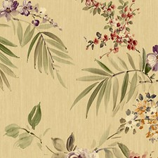 Gold/Purple Wallcovering by Scalamandre Wallpaper