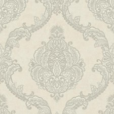 Gray/Silver Weaves Wallcovering by York