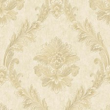 White/Gold Floral Wallcovering by York