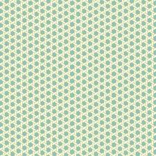 Robin's Egg Blue/White/Lime Green Geometrics Wallcovering by York