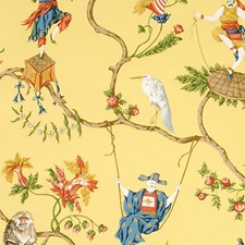 Multi On Pollen Wallcovering by Scalamandre Wallpaper