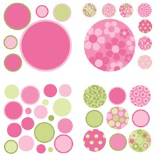 WPD94572 Pink and Green Gone Dotty MiniPops by Brewster