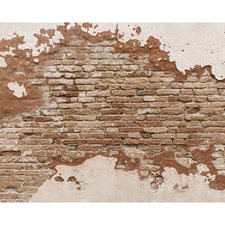 WR50508 Distressed Brick Wall Mural by Brewster