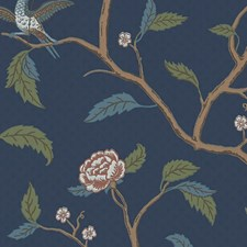 Blue/Brown Wallcovering by Scalamandre Wallpaper